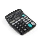 得力837桌面计算器(黑)(台)