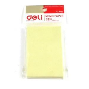 得力 7732 记事贴便签纸便利贴 76x51mm (单位:包) 淡黄