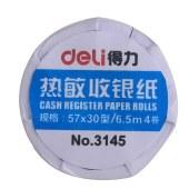 得力3145热敏收银纸(蓝)(4卷/筒 单位:筒)