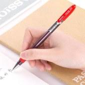 得力 S55 签字笔中性笔水笔 0.5mm 12支/盒 (单位:支) 红色