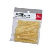 得力3211乳胶圈皮筋(微黄)(30g/包)