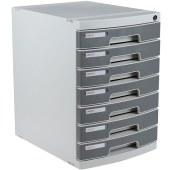 得力8877文件柜带锁桌面文件柜(浅灰)(只)