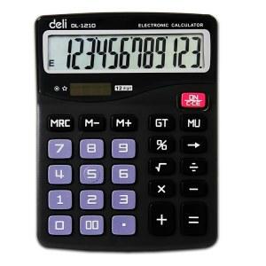 得力1210A计算器(黑色)(台)