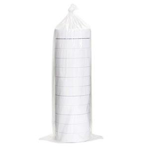 得力30403棉纸双面胶带80um*24mm*10y(白)(12卷/袋)