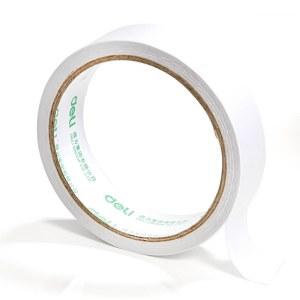 得力 30407 棉纸双面胶带 24mmx10y袋装 1卷/袋 (单位:袋) 白