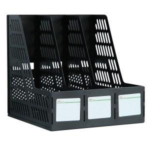 得力9833三联文件框(黑)(只)