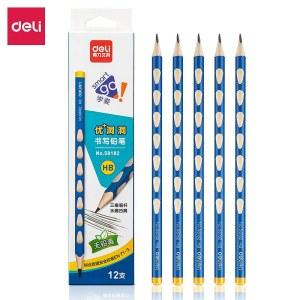 得力58182_12支彩盒装HB洞洞铅笔12支/盒(单位:盒)混