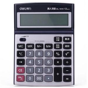 得力1619语音计算器(深灰)(台)