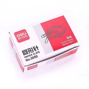 得力 0050 回形针 100枚/盒  (单位:盒)