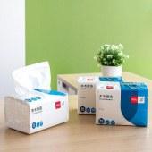 得力MR2200-01软包抽取式纸面巾(白)(3包/提)(单位:提)