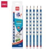 得力58183_12支彩盒装2B洞洞铅笔 12支/盒(单位:盒)混