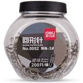 得力0052回形针(黑色)(200只/桶)