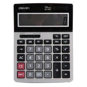 得力1671A桌面型计算器(黑)(个)