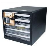 得力9775文件柜桌面文件柜(黑)(只)