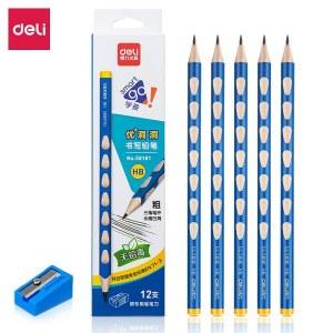 得力58181_12支彩盒装HB中粗洞洞铅笔12支/盒(单位:盒)混