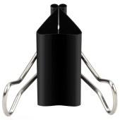 得力8562-2#黑色长尾票夹长尾夹41mm(筒装)(黑)(24只/筒)