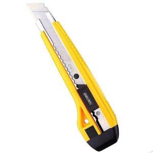 得力2041美工刀(黄色)(单位:把)