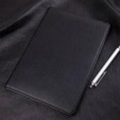 得力7900皮面笔记本(黑)-80页-18K(本)