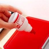 得力 9874 快干清洁印泥油 40ml (单位:瓶) 红