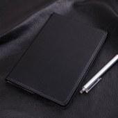 得力7901皮面笔记本(黑)-80页-25K(本)