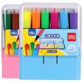 得力(deli)70653 18色水彩笔(单位:盒)蓝