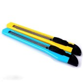 得力2051 0.4x9x80mm(刀片规格)美工刀(黄色)(单位:把)