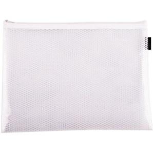 得力5690-A4网格拉链袋(白色)