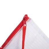 得力5654拉链袋A4(红)(单位:个)