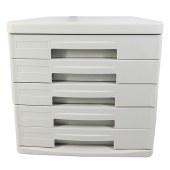得力9773五层硬塑文件柜桌面文件柜(灰)(只)
