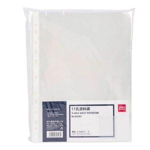 得力64050_11孔资料袋(透明)(100个/包)(单位:包)