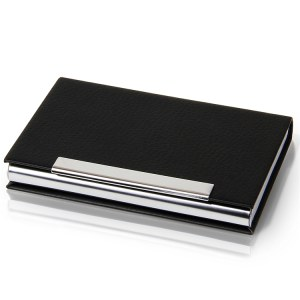 得力 7628 名片盒 95*64*13mm (单位:个) 黑
