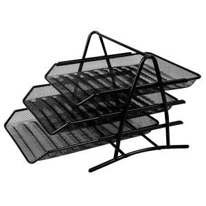 得力9181文件篮(黑)(只)