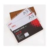 得力5806硬质卡片袋(透明)(只)