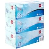 得力MH3130-01盒装抽式面巾纸(白)(3盒/提) (单位:提)