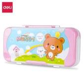 得力(deli)95585塑料文具盒(单位:个)红色
