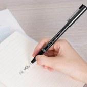 得力 S36 签字笔中性笔水笔 0.5mm 12支/盒 (单位:支) 黑色